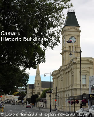 Oamaru Town Historic Buildings, Otago, New Zealand