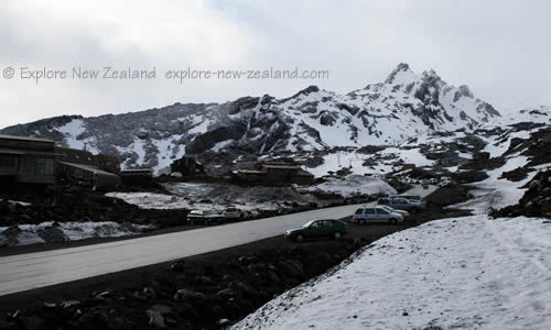 Road to the Ski Fields Tongariro and Ruapehu New Zealand
