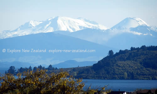 Snow Capped Mountains for Skiing Ruapehu Tongariro New Zealand