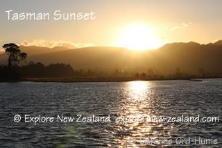 Tasman Sunset at Collingwood New Zealand