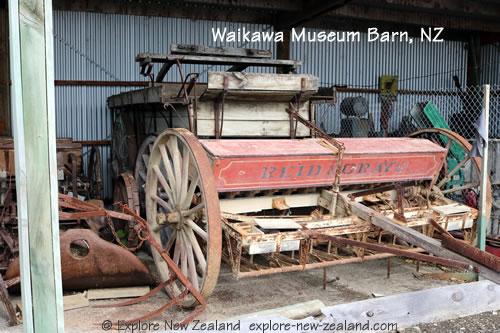 Historic Artefacts in Barn Behind Waikawa Museum New Zealand