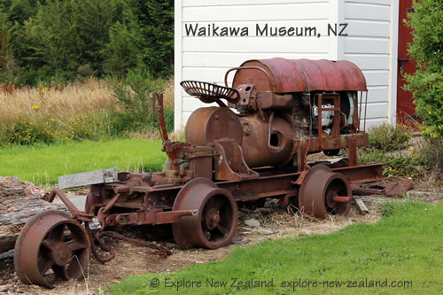 Historic Machinery at Waikawa Museum New Zealand