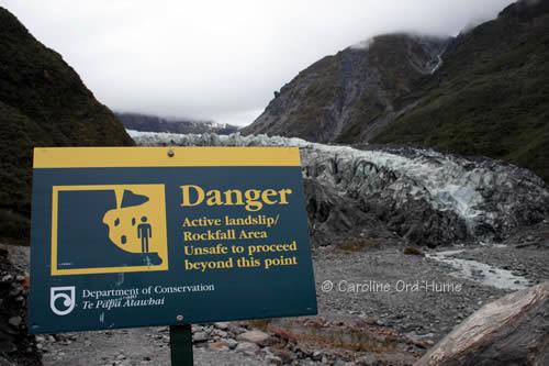 Westland National Park Danger - Active Landslip / Rockfall Area