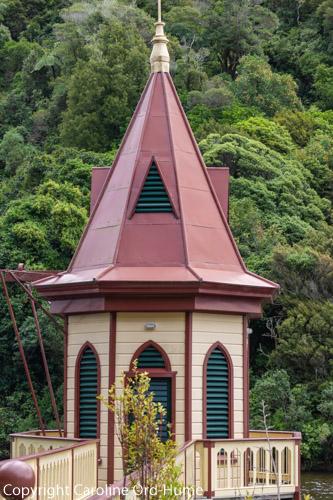 1873 Historic Gothic Style Water Outlet Valve Tower, Karori Resevoir Zealandia - Te Mara a Tane, Wellington, New Zealand